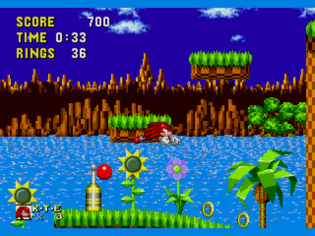 Sonic The Hedgehog Usa Europe Hack By Stealth Rev 1 Knuckles The Echidna In Sonic The Hedgehog Rom Genesis Roms Emuparadise